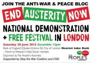Peace activists to hold anti-war demo in U.K