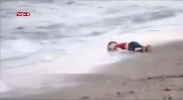 Drowned Syrian child (Video)