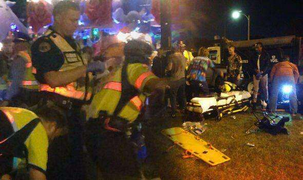 At least 28 injured after vehicle ploughs into parade crowd