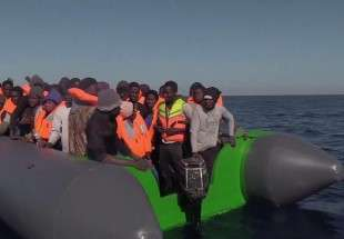 Migrants have been rescued off the Libyan coast (photo)