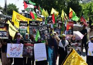 Shiite and Sunnis in Islam Abad mark Al-Quds day by staging rallies (Photo)