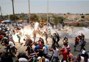 Israeli forces clash with Palestinians in al-Quds (photo)