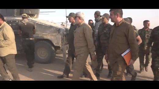 Hashd al-Sha'abi leaders visit released areas in Tal Afar